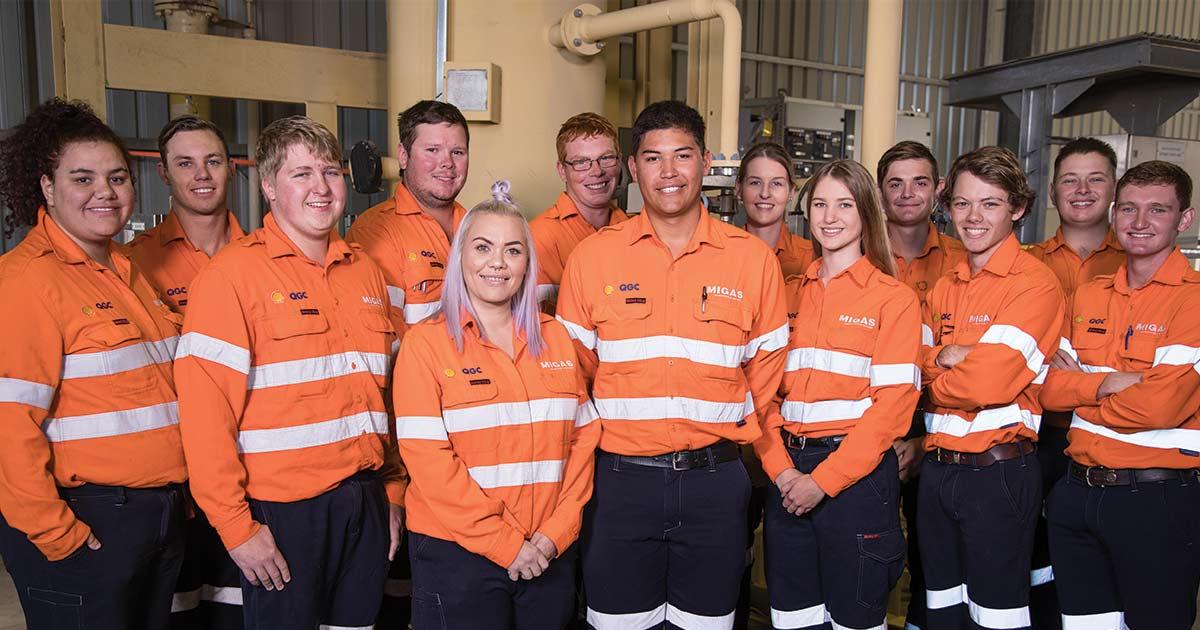 QGC's new apprentice recruits hit the ground running