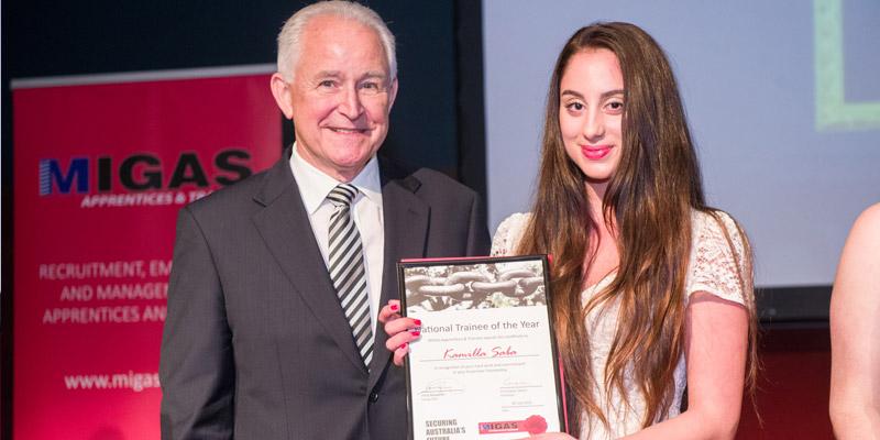 2015 National Trainee of the Year Kamilla Saba