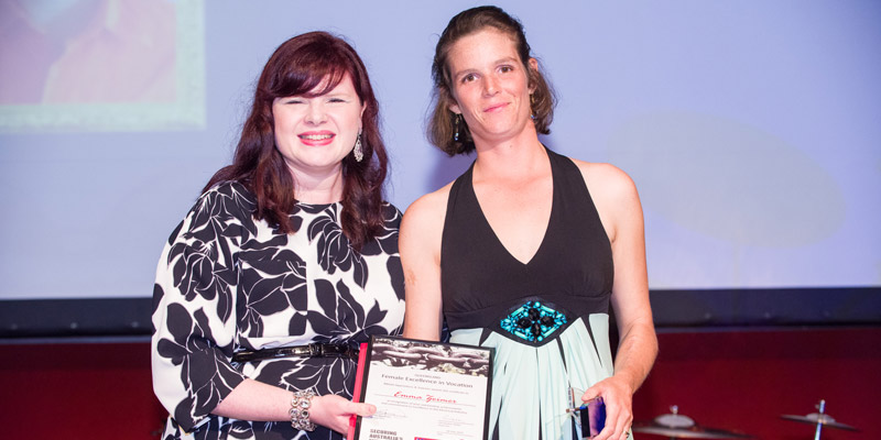 2015 QLD Female Excellence in Vocation Emma Zeimer