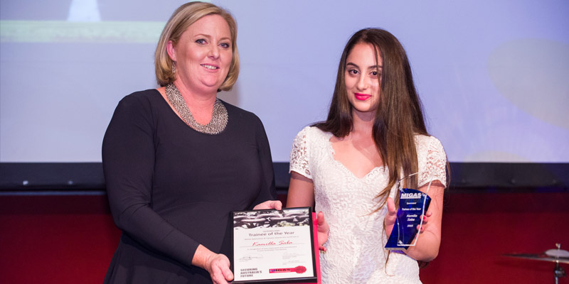 2015 QLD Trainee of the Year Kamilla Saba