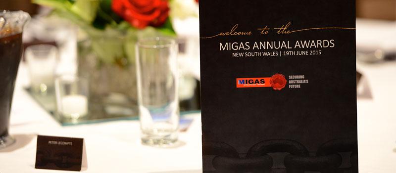 NSW MIGAS Awards held in Sydney 2015