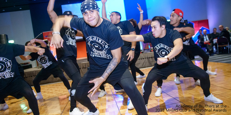 Academy of Brothers Dance Crew perform at the MIGAS 2015 Apprentice Awards