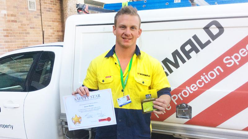 Apprentice James Maslin named MIGAS Safety Star July 2015